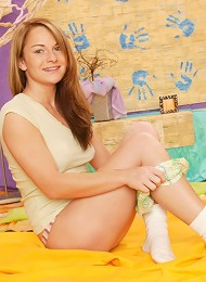 Sweet Jessica P. Could Not Wait To Pull Off Her Clothes And Get Down And Dirty With Her Big Thick Dildo!